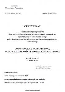 Lobo HR - profesjonalna agencja wpisana do rejestru